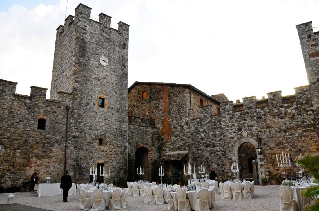 Modanella, a Fairy Castle for Weddings near Siena