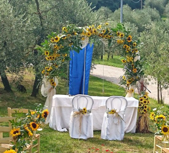 Sunflowers for Wedding Flowers in Tuscany