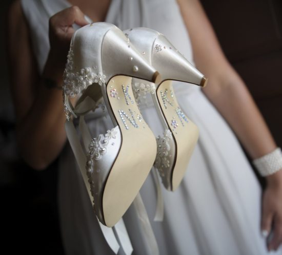 Decals and Messages for Weddings Shoes