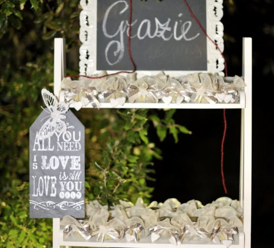 Wedding Favors and Confetti in Tuscany