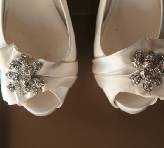Bridal shoes and wedding color scheme